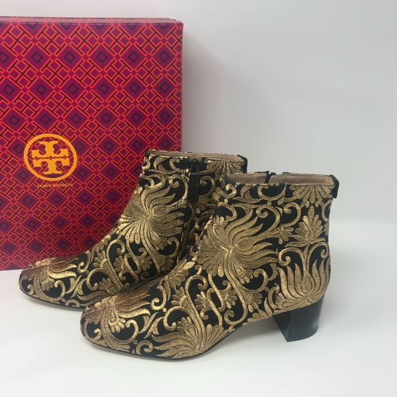 be1d49c9efe Tory Burch Carlotta Brocade Embroidered Booties